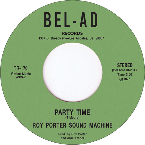 # 89 (TR-170) Roy Porter Sound Machine-Party Time/Out On The Town Tonight