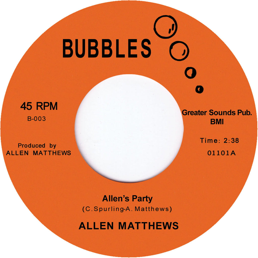 B-003 Allen's Party/Good Loving Care - Allen Matthews