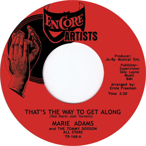 TR-168 Marie Adams and The Tommy Dodson All Stars-You Don't Know/That's The Way To Get Along