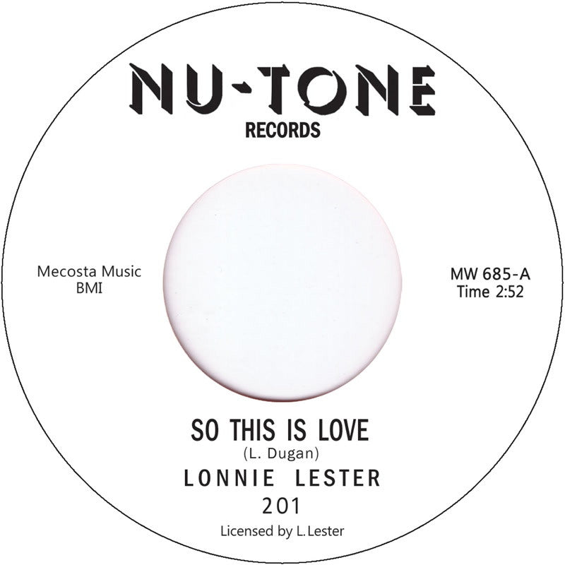 #106 (MW-685) Sonny Lester So This Is Love/So This Is Love(Alternate Take)