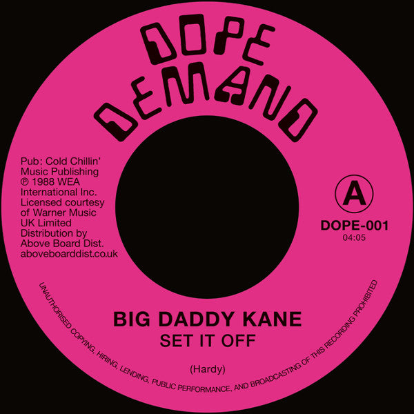 #347 Set It Off / Instrumental - Big Daddy Kane
