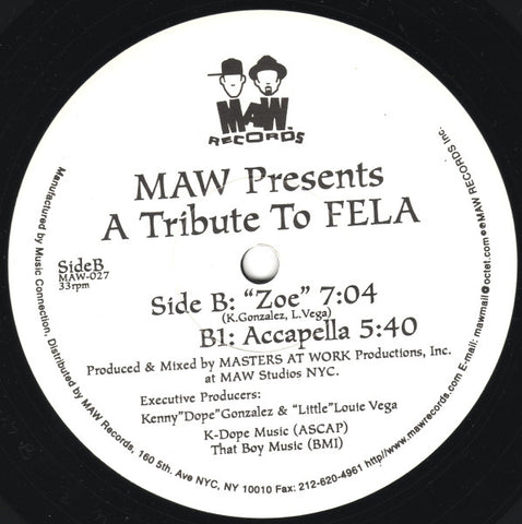Maw-027 A Tribute To Fela - Maw Featuring Wumni