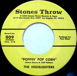 #190 The Highlighters Band - Poppin' Pop Corn/The Funky Sixteen Corners
