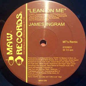Maw-056 Lean On Me -James Ingram