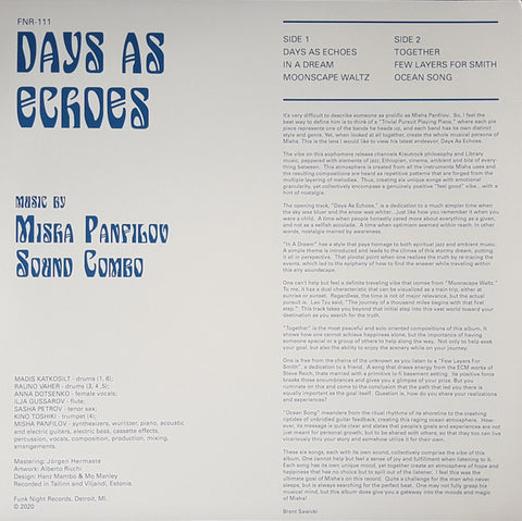 #495 Days As Echos - Misha Panfilov Sound Combo