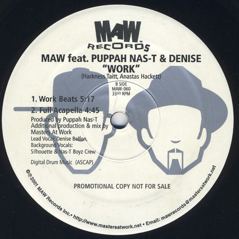 Maw-060 Work - Maw Feat. Nasty & Denise