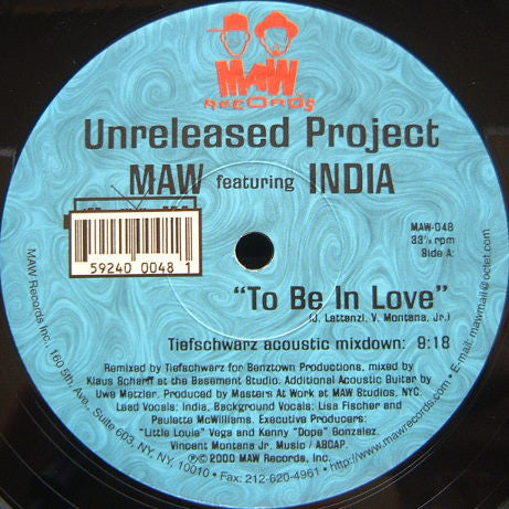 Maw-048 To Be In Love Tief Schwartz Remix