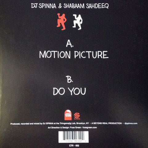 "#6 (CTR-002) Shabaam Sahdeeq/DJ Spinna-Motion Picture (Transparent Red Vinyl 7"")"