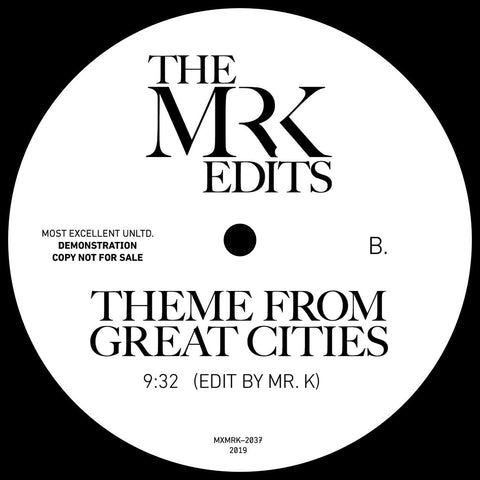#289 Mr. K - Time Of Season /Theme From Great Cities 12""