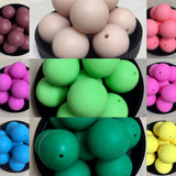 Silicone Round Bead 20mm - Qty: 50 Mixed - Bulk Purchase
