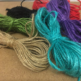 2mm Hemp (Qty: 10 metres) - 10 colours available