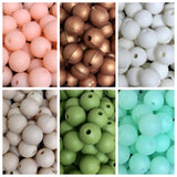 Silicone Round Bead 10mm - 6 Colours Available