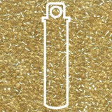 Gold (Pale) Silverlined 11/0 (92) - 24 gram Tube