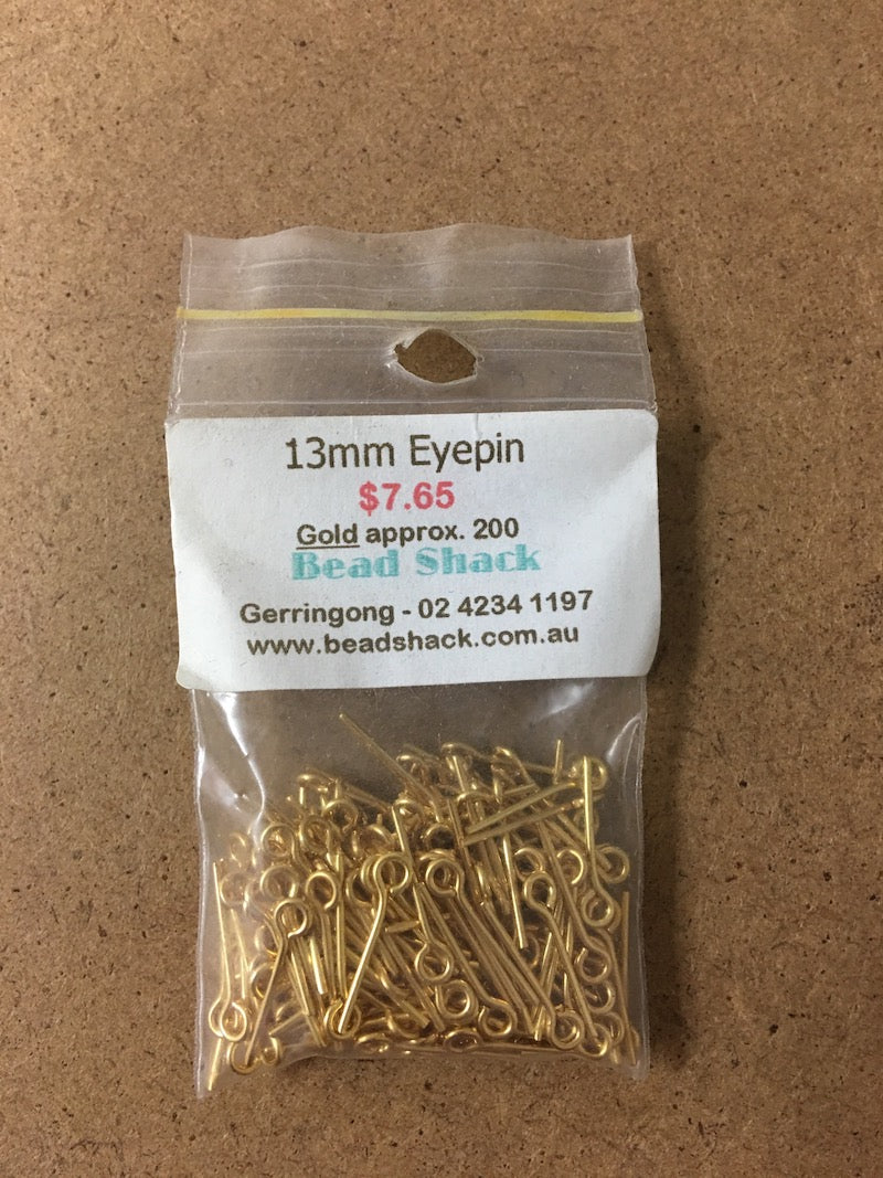 13mm Eyepin - Gold