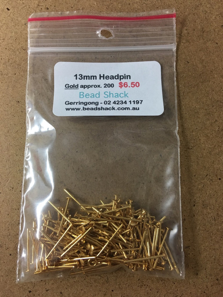 13mm Headpin - Gold