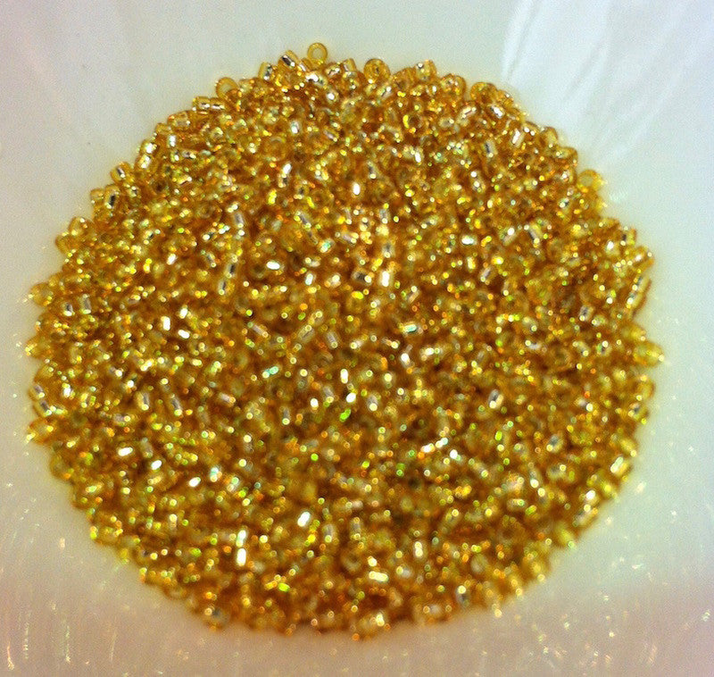 Gold Silverlined 15/0 (32) Qty: 5 grams