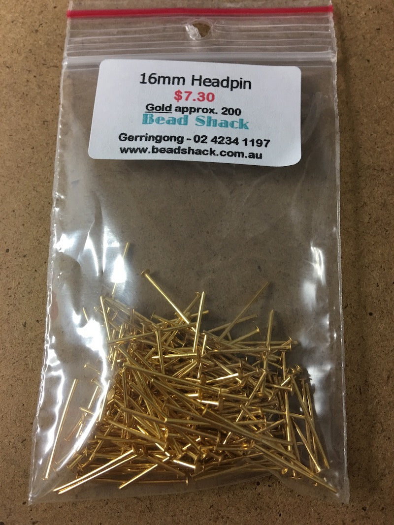 16mm Headpin - Gold