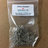 19mm Headpin - Nickel - Bead Shack