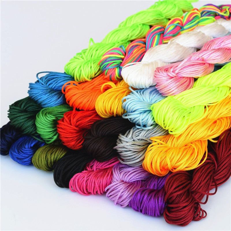 1mm Nylon Jewellery Cord - 16 colours available