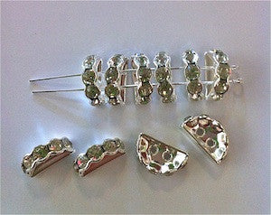 12x7mm Silver 2-hole Swarovski Bridge Qty: 10 - Bead Shack