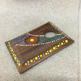 Aboriginal Art - Wood Pendant - Campfire