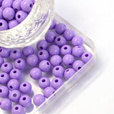6mm Acrylic Opaque Round Beads (100) - 9 colours available