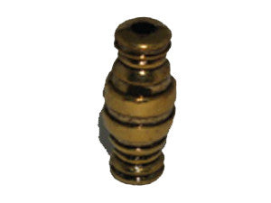 Tube 28x12mm Gold Tone Qty: 1