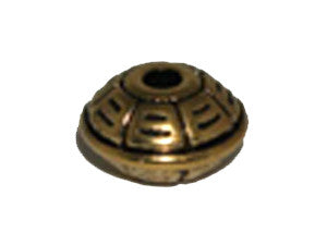 UFo 16x10mm Gold Tone Qty: 1