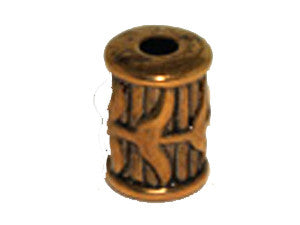 Tube 18x13mm Gold Tone Qty: 1