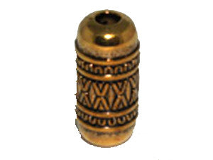 Tube 21x7mm Gold Tone Qty: 1