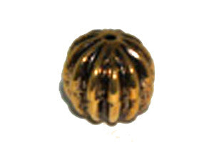 Fluted Round 12mm Gold Tone Qty: 1
