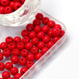 6mm Acrylic Opaque Round Beads (100) - 6 colours available