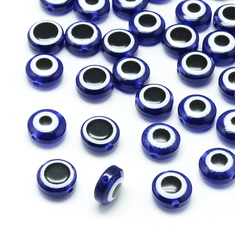 Evil Eye Beads (Resin) - Qty: 10