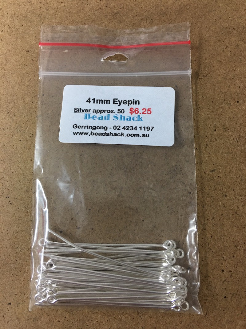 41mm Eyepin -  Silver - Bead Shack