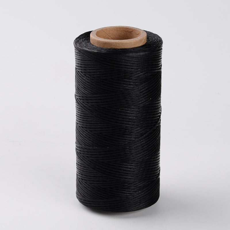 3mm Natural Cotton Rope - Black - 100m Spool