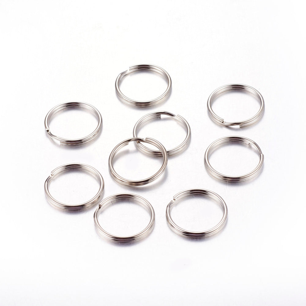 20mm Splitrings Silver Tone - Qty: 20