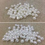 4mm Round Acrylic Pearl Beads - 2 colours available