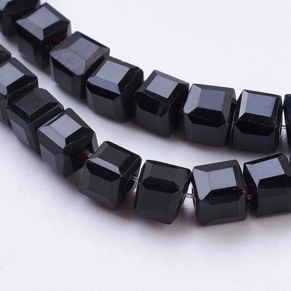 4mm Cube Glass Facet Bead (Qty: 50)