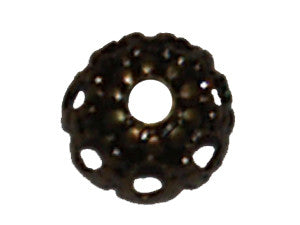 Filigree 4x2mm Bead Cup - Qty: 100 - 5 colours available