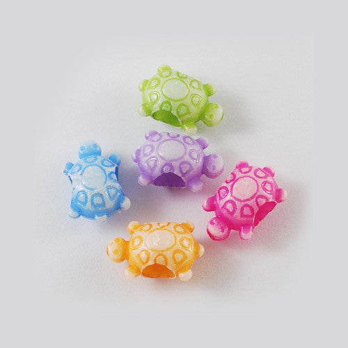 Tortoise / Turtle Beads - Qty: 50