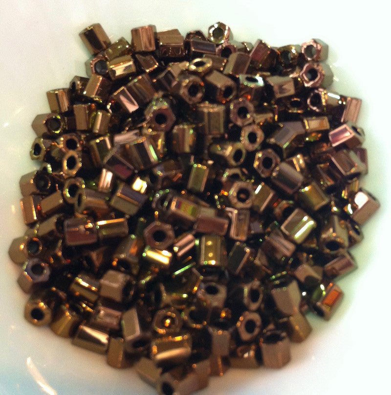 Bronze Metallic 2-Cut 6/0 (601) Qty: 10 grams