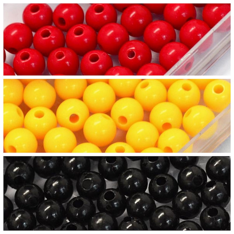 NAIDOC Aborigine 6mm Round Acrylic Bead Supplies - Qty: 3,000