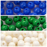 NAIDOC Week 6mm Round Acrylic Bead Supplies - Torres Strait Islander - Qty: 300
