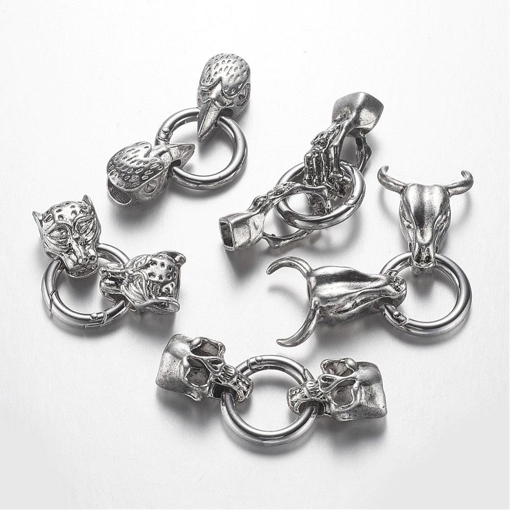Heavy Spring O-Ring Clasps (Glue-In) - 5 Styles