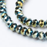 Electroplate Crystal 6mm Rondelle (Abacus) Strands - 4 colours available