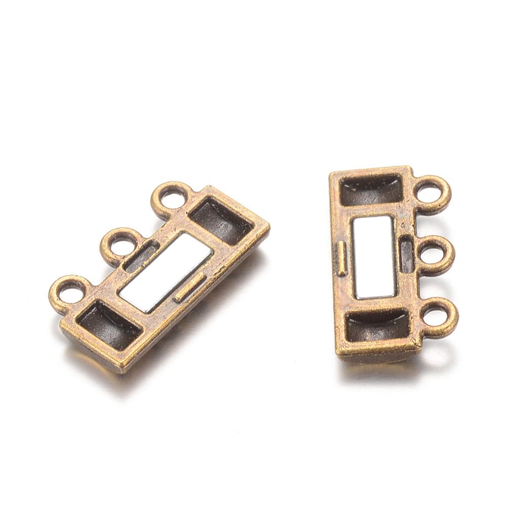 Magnetic 3-Strand Clasp - Ancient Gold