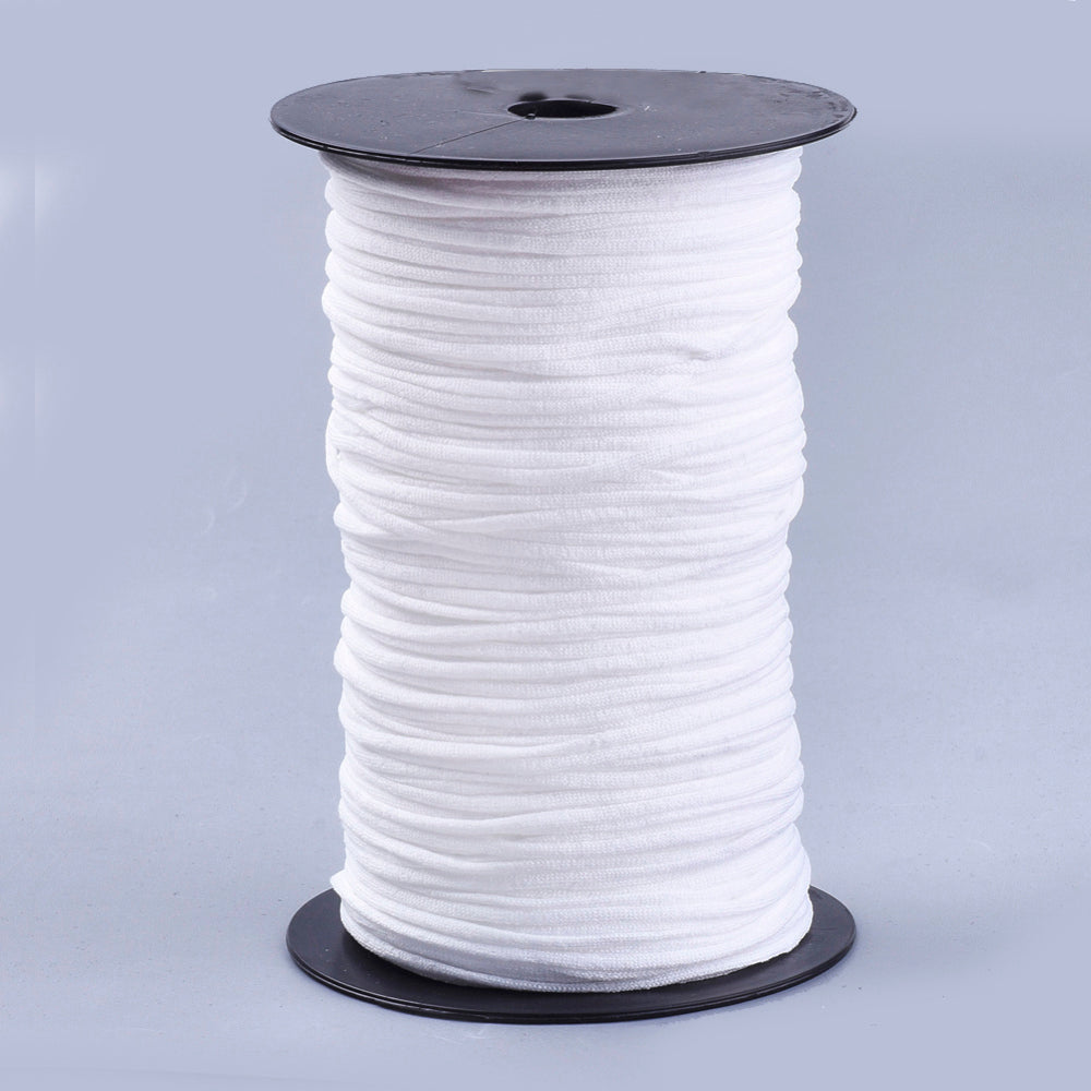 WHITE Mask Stretch Elastic - 2 styles available (Qty: 10 metres)
