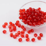 8mm Faceted Round Acrylic Beads
