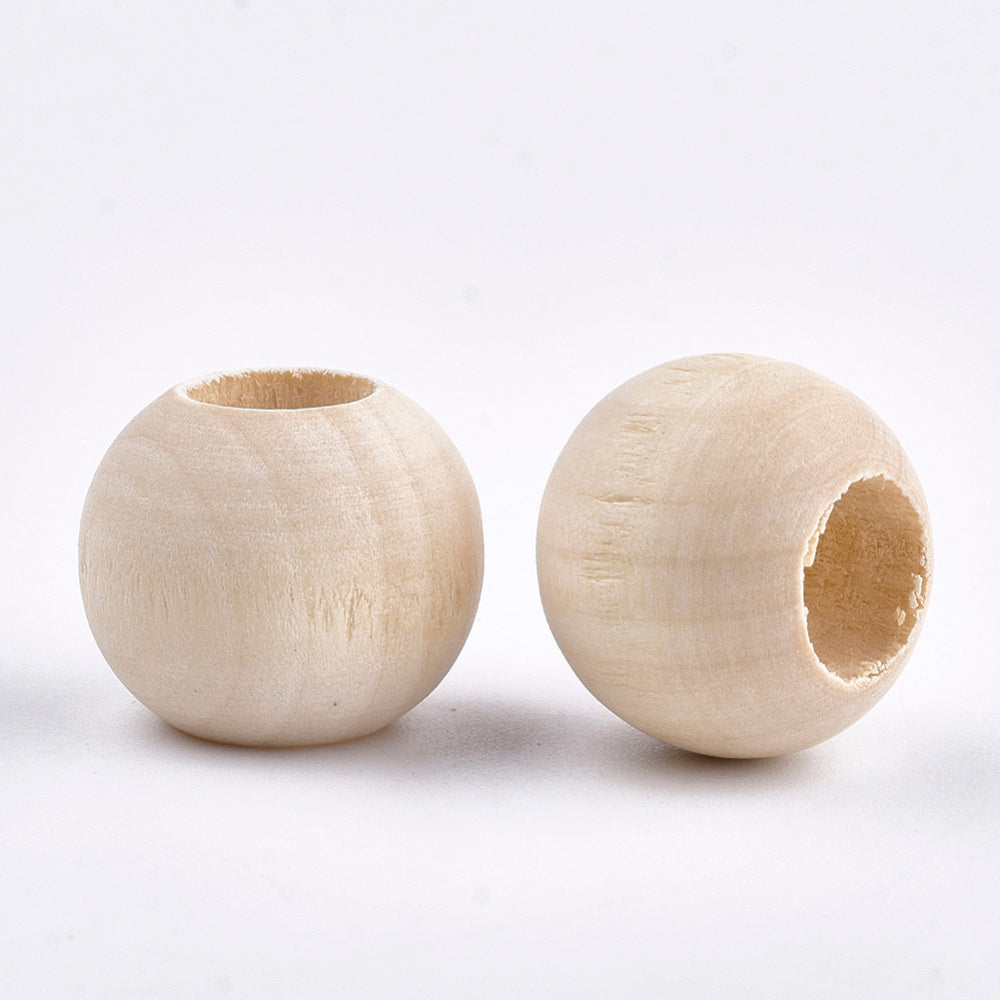 Raw Wood 20x15mm Bead - 10mm Hole - Qty: 25