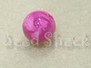 Hot Pink 14mm Round  Qty:  10 - Bead Shack